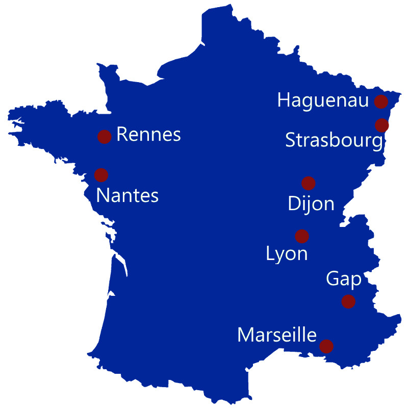 Carte du Circuit National